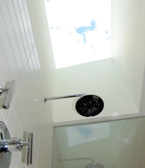 Master Bathroom Skylight Over Shower Midcentury