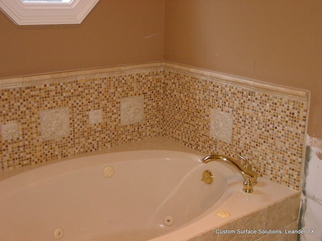 Master Bathroom - Travertine Tile Shower, Tub, Floor - Traditional - Bathroom - austin - by ...