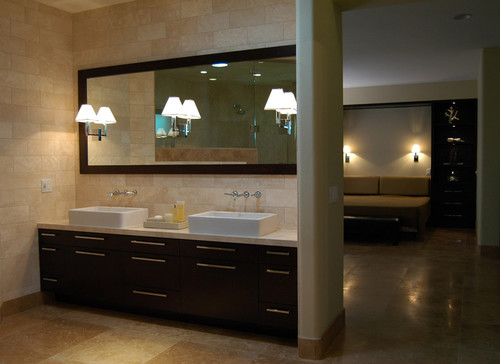 60 Inch Bathroom Vanity Mirror would that beveled framed mirror fit above a 60 inch vanity?