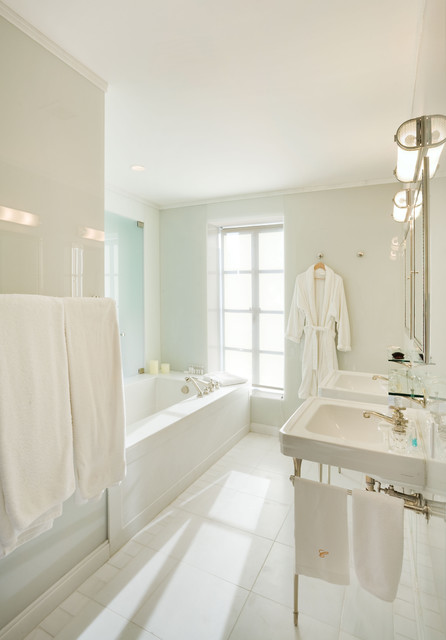 Master Bathroom, Upper East Side Apartment, New York City contemporary bathroom