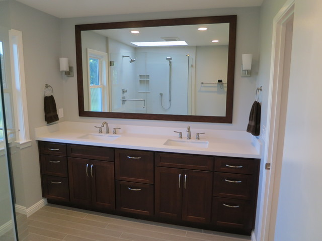 Master bathroom vanity transitional bathroom san for Master bath vanities pictures