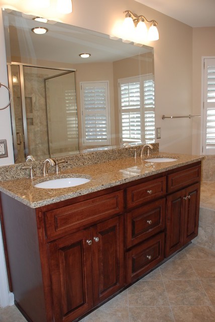Bathroom Cabinet Remodel master bathroom vanity remodel - traditional - bathroom