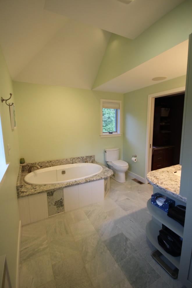 Master Bathroom various ceiling heights - Beach Style ...