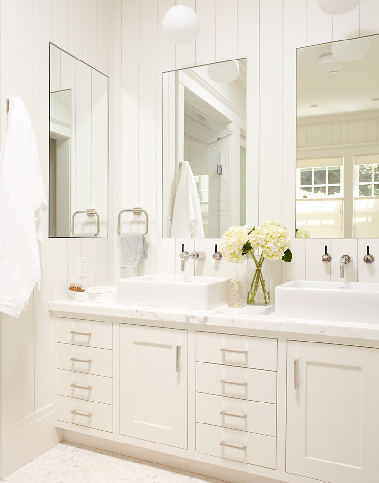 Master Bathroom White Vanity With Two Sinks And Large Mirrors Traditional Bathroom San Francisco By Rasmussen Construction Houzz