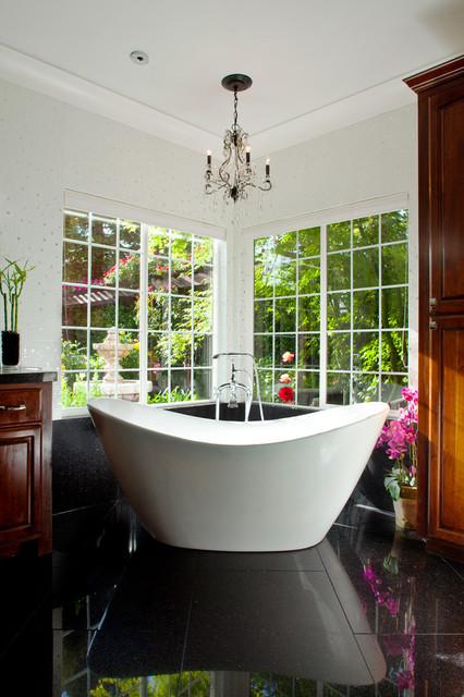 Master Bathroom With A View Contemporary Bathroom