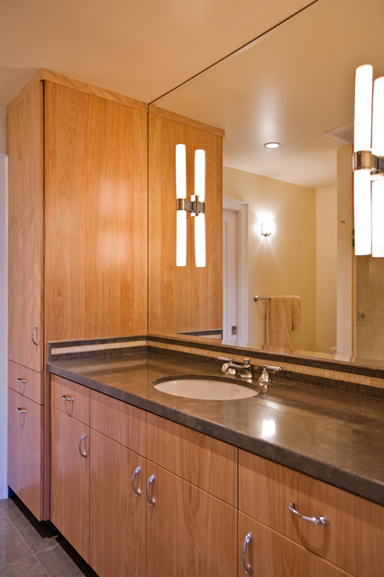 master bathroom with euro style custom cabinets modern bathroom
