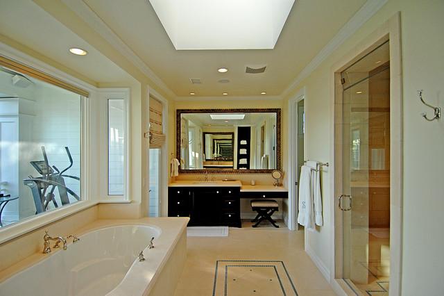 master bathroom with gym traditional bathroom los
