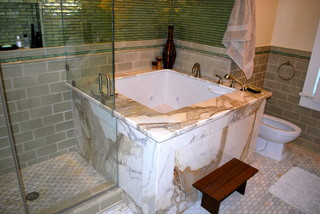 Master Bathroom with Japanese soaking Tub - Asian ...