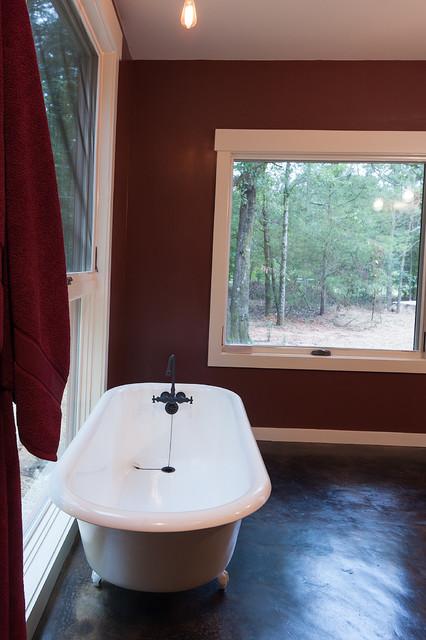 Master Bathroom With Refurbished Clawfoot Tub Eclectic