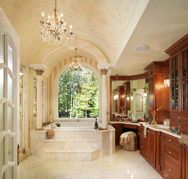 Master Bathroom With Soaking Tub Traditional Bathroom