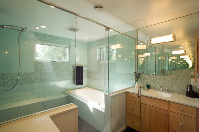Master Bathroom With Walk In Shower Contemporary Bathroom