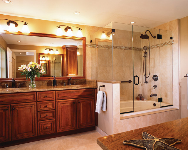 master bathroom traditional bathroom - Bathroom Tub And Shower Designs