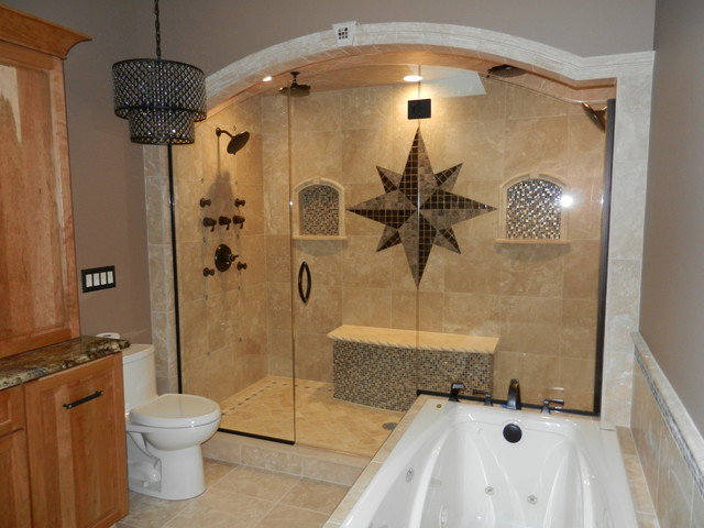 Charmant Inspiration For A Mediterranean Bathroom Remodel In Other