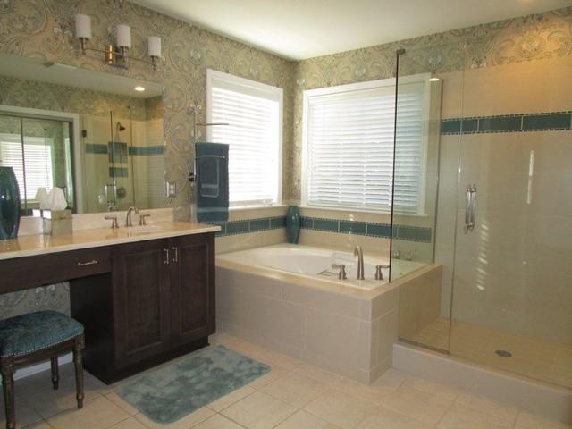 Master bathrooms classique chic salle de bain - Salle de bain classique chic ...