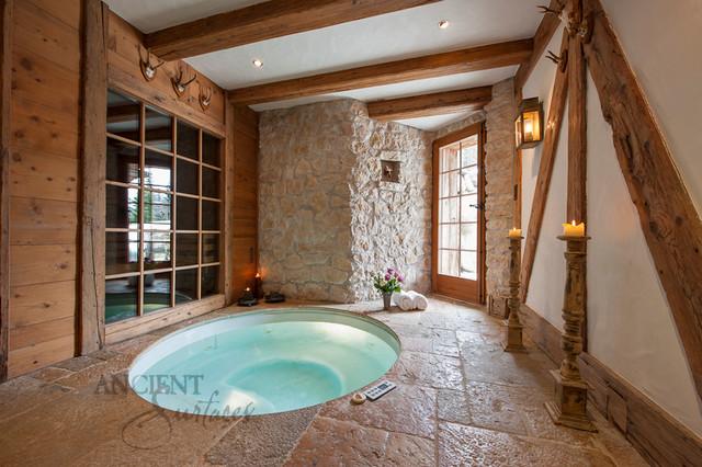 Master Bathrooms Tiles and Antique Limestone - Mediterranean ...