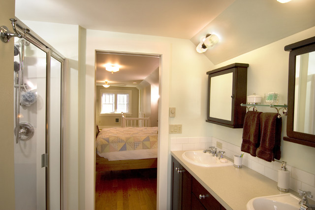 Master Bedroom & Bathroom Attic Remodel - Traditional - Bathroom ...