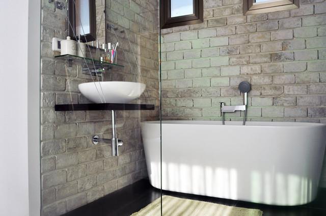 Master bedroom bathroom makeover contemporary for Master bathroom makeover