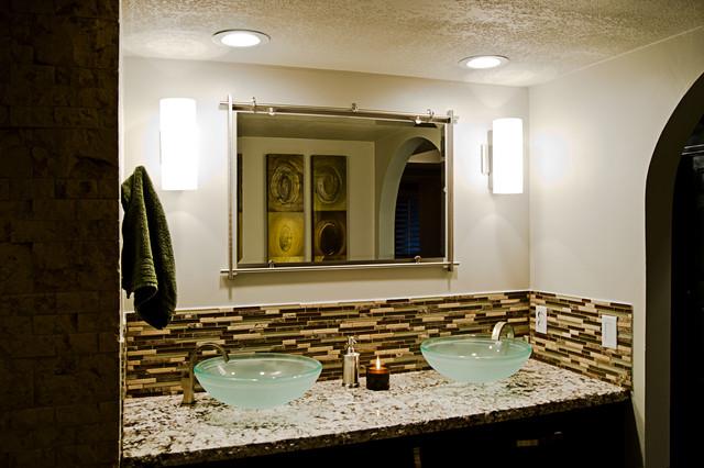 Master bedroom bathroom remodel modern glamour style for Modern glamour interior design