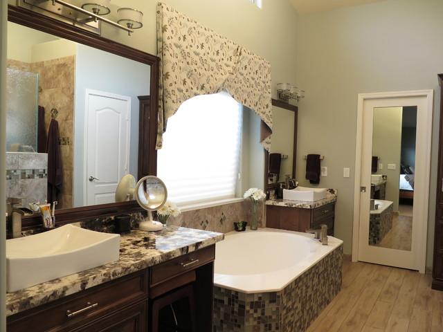 Master bedroom bathroom renovation spa look for Looking for bathroom renovators