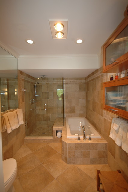 Master Closet turned into Master Bath - Traditional ...