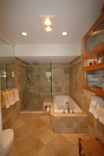 Master Closet Turned Into Master Bath Traditional