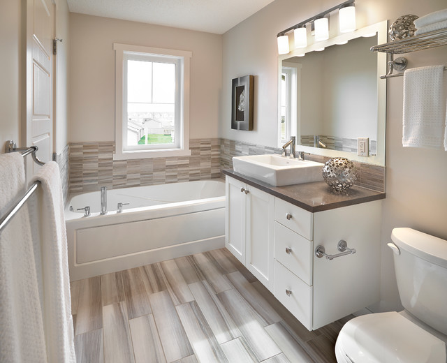 Master en suite transitional bathroom edmonton by for Bathroom ideas edmonton