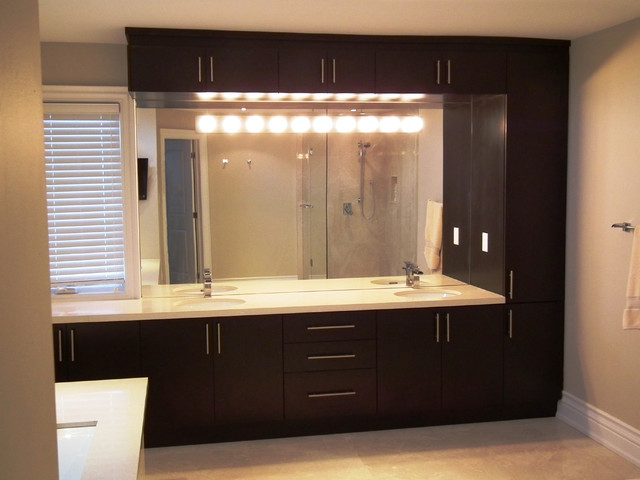 Master ensuite bathroom design custom vanity for Master bathroom suite designs