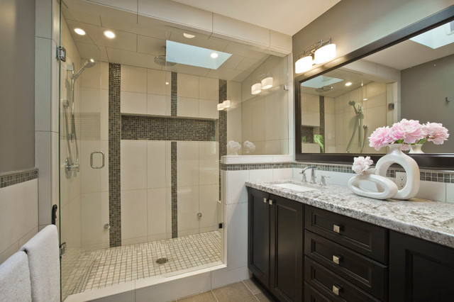 Master ensuite bathroom transitional bathroom for Master ensuite bathroom ideas