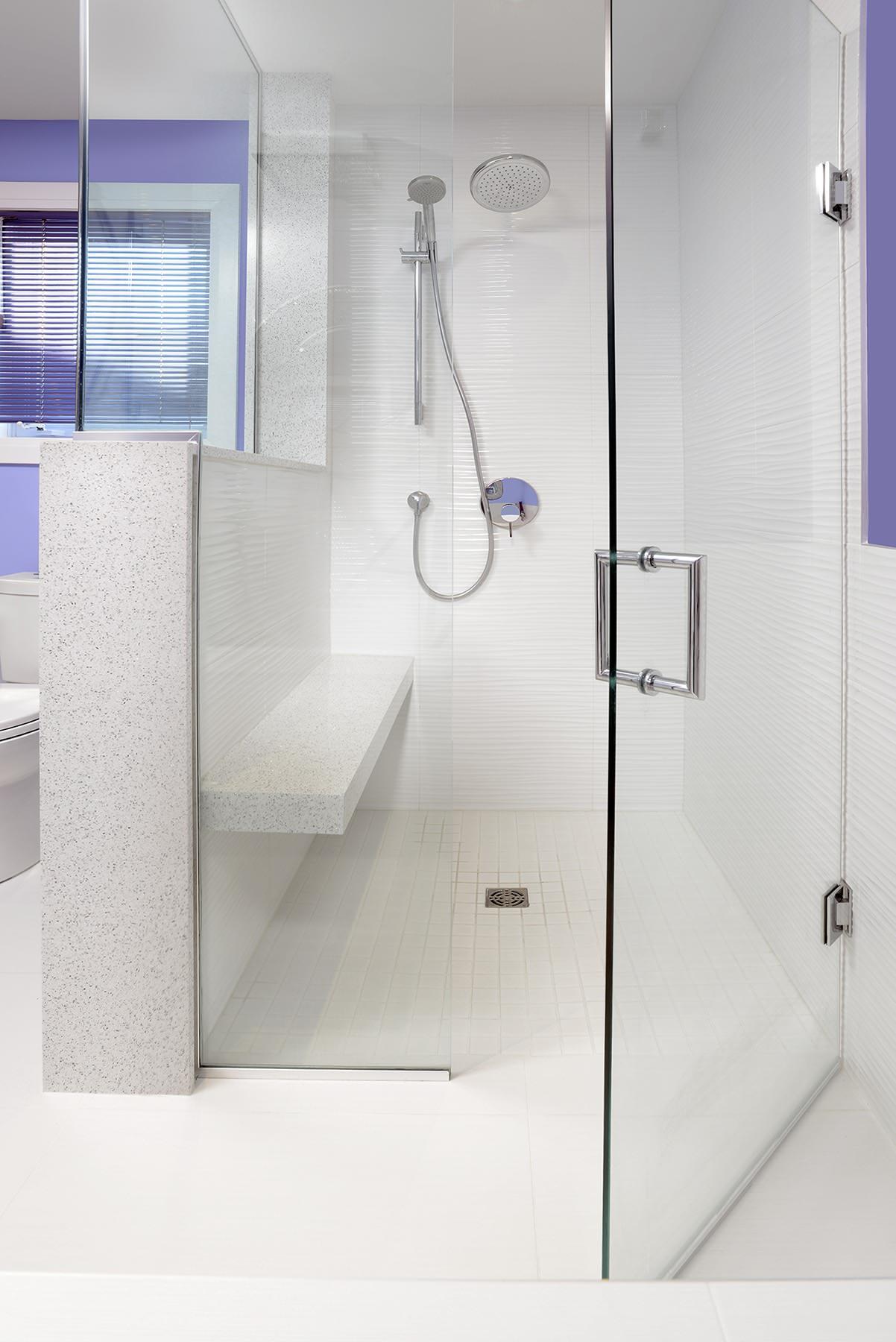 Quartz Shower Bench Houzz