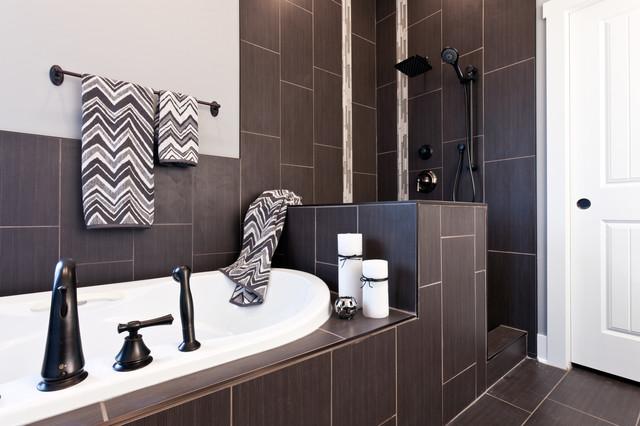 Master ensuite residence camrose ii modern bathroom for Modern master ensuites