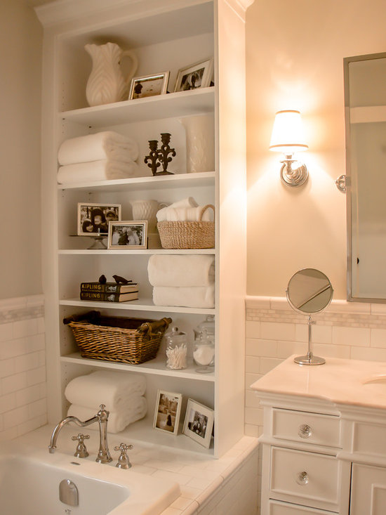Large Traditional Bathroom Design Ideas, Pictures, Remodel & Decor with a Drop-In Sink