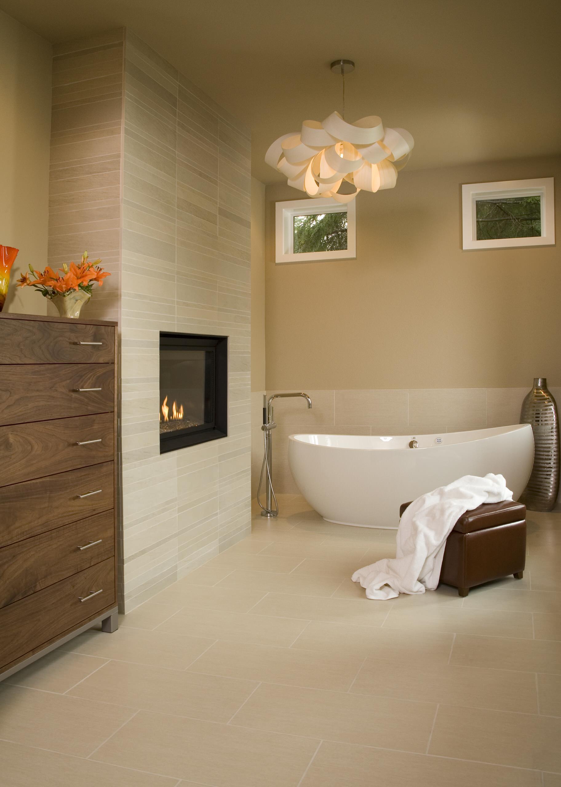 Bathroom Fireplace Houzz