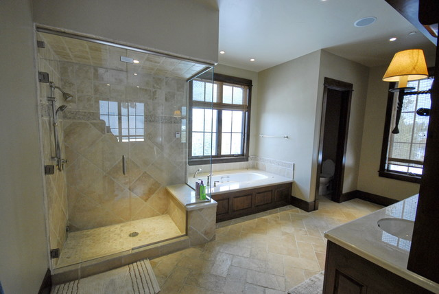 Master Shower traditional-bathroom