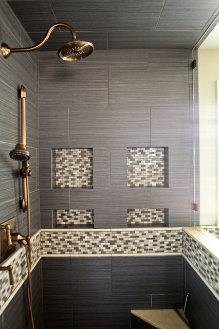 master shower niche detail contemporain salle de bain salt lake city par denise glenn. Black Bedroom Furniture Sets. Home Design Ideas
