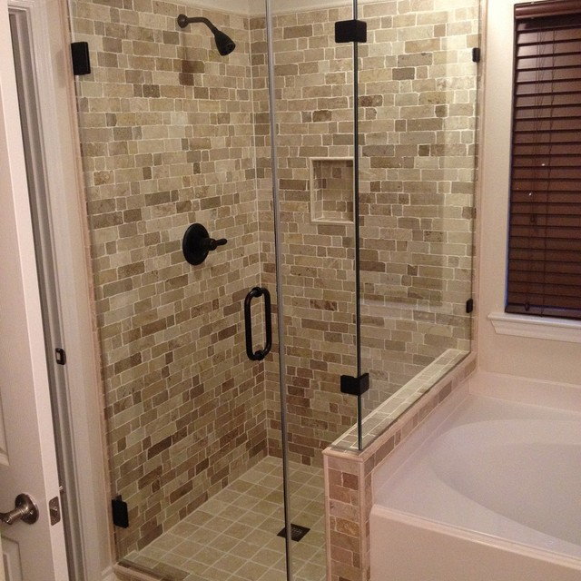 Shower Remodel Houston Master Shower Project 201480  Rustic  Bathroom  Houston .