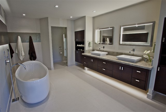Master Suite modern bathroom