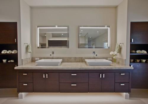 How To Light A Contemporary Bathroom