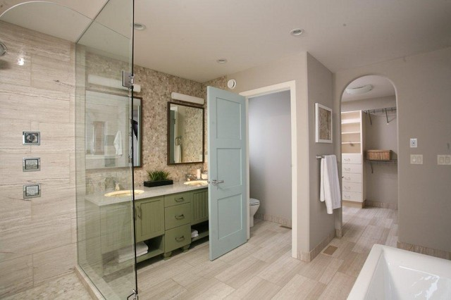 Master suite contemporary bathroom other metro by for Master bathroom suite designs