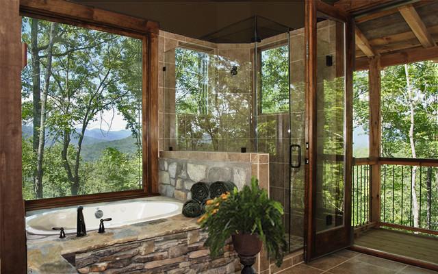 Master Suite Bath with Deck bathroom