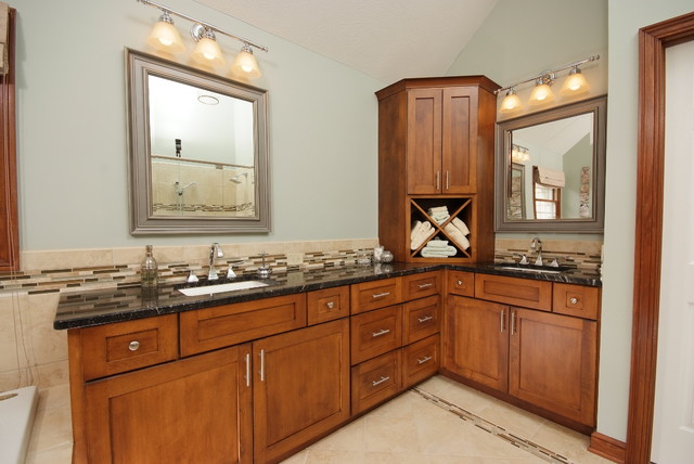 Master Suite Bathroom With Custom Cabinets Traditional Bathroom