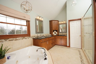 Master Suite Bathroom With Custom Cabinets Traditional Bathroom Cleveland By Artistic