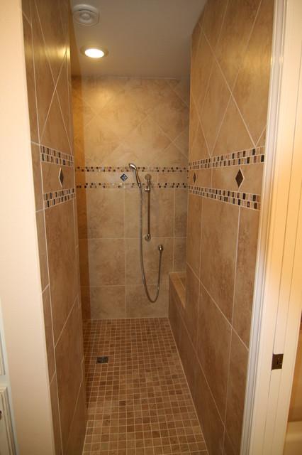 master suite, closet to shower traditional-bathroom
