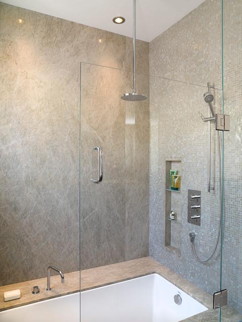 Master suite his modern bathroom portland by for Bathroom remodeling sheboygan