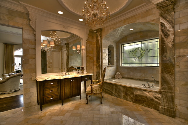 Master suite traditional-bathroom