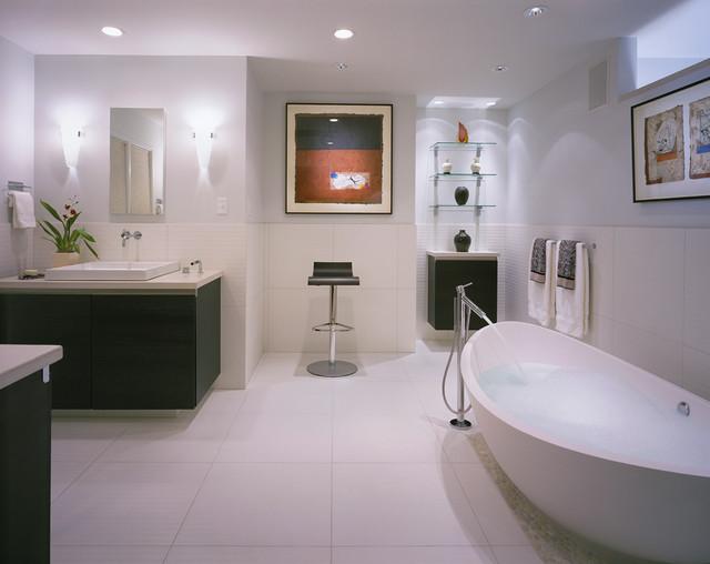 Master suite remodel, Bethesda MD contemporary-bathroom