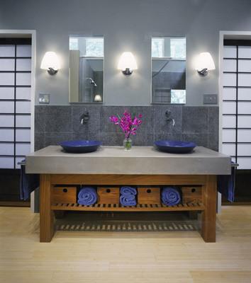 Master suite remodel, Washington DC contemporary-bathroom