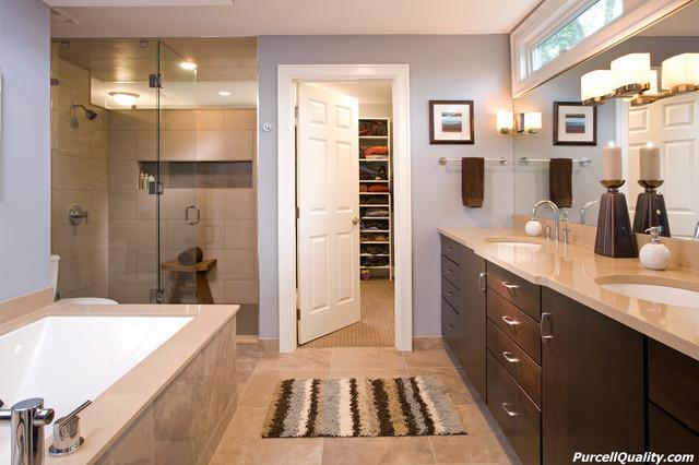 Master Suite Renovation - Bloomington contemporary-bathroom