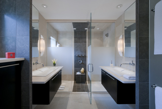 Master suite renovation falls church va modern for Church bathroom designs