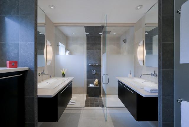 Master suite renovation falls church va modern for Church restroom design