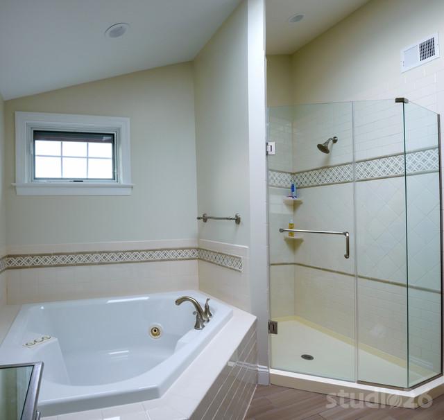 Master suite renovation classique chic salle de bain - Salle de bain classique chic ...